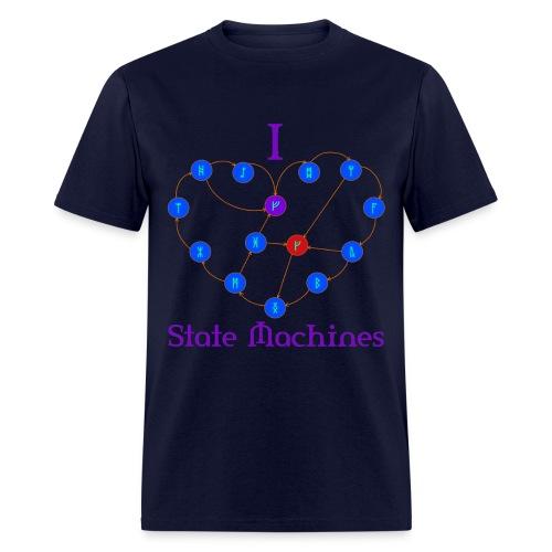 I Heart State Machines (for dark t-shirts) - Men's T-Shirt