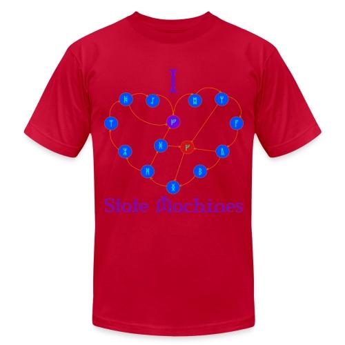 I Heart State Machines (for dark t-shirts) - Men's  Jersey T-Shirt