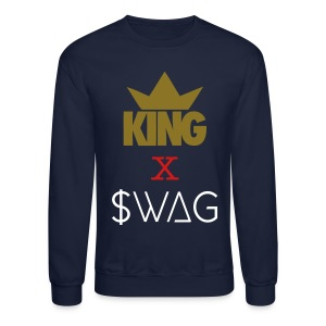 Men's KING SWAG Crewneck Sweatshirt - Crewneck Sweatshirt