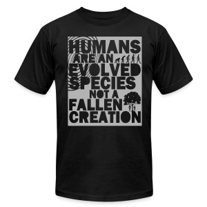 Humans Evolved - Men's T-Shirt by American Apparel