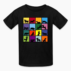 dog cube beagle Kids' Shirts