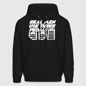 real men use 3 pedals Hoodies - Men's Hoodie