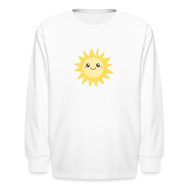 1f39db7bc28e Inspirationz Store on Spreadshirt.com | Cute happy sun - Kids Long ...