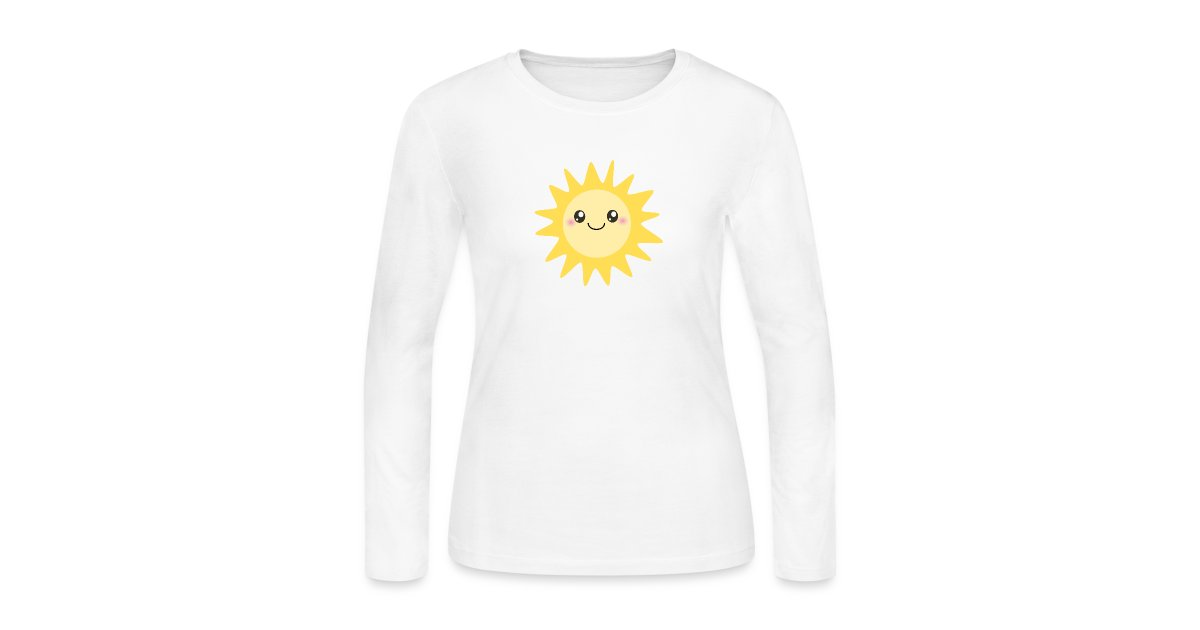 01e4d40f0afe Inspirationz Store on Spreadshirt.com | Cute happy sun - Womens Long ...