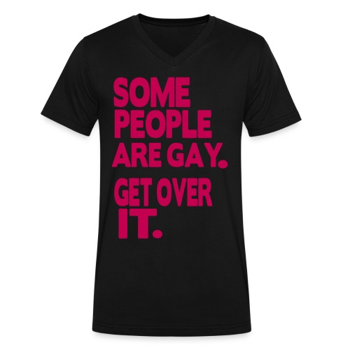 get over it - Men's V-Neck T-Shirt by Canvas