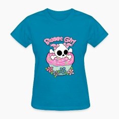 Sweet Girl Skull Women's T-Shirts