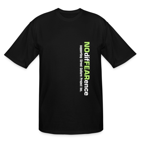 No difFEARence Men's Black Tee with Green & White Font - Men's Tall T-Shirt