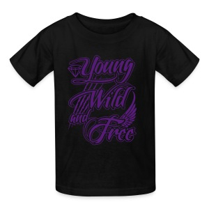 Kids Young Wild and Free - Kids' T-Shirt