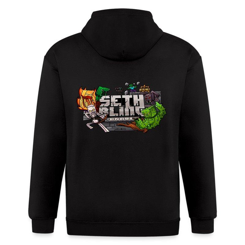SethBling: Brawl (Zip-up Hoodie) - Men's Zip Hoodie