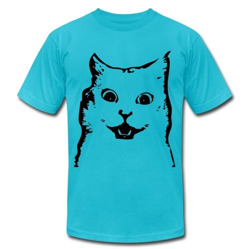 surpised cat - Men's Fine Jersey T-Shirt