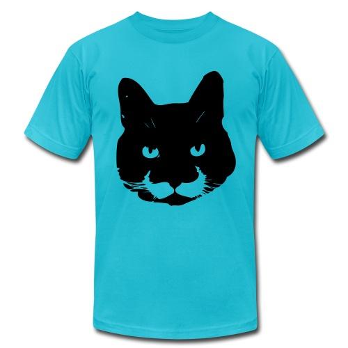 mustache cat - Men's Fine Jersey T-Shirt
