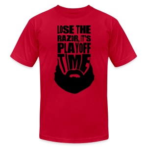 Lose The Razor It's Playoff Beard Time T-Shirt - Men's T-Shirt by American Apparel