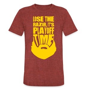 Lose The Razor It's Playoff Beard Time T-Shirt - Unisex Tri-Blend T-Shirt by American Apparel