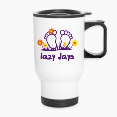 Lazy Days - Toes | desing your own funshirt Bottles & Mugs