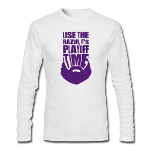 Lose The Razor It's Playoff Beard Time T-Shirt - Men's Long Sleeve T-Shirt by Next Level