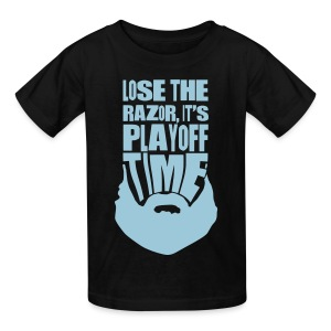 Lose The Razor It's Playoff Beard Time T-Shirt - Kids' T-Shirt