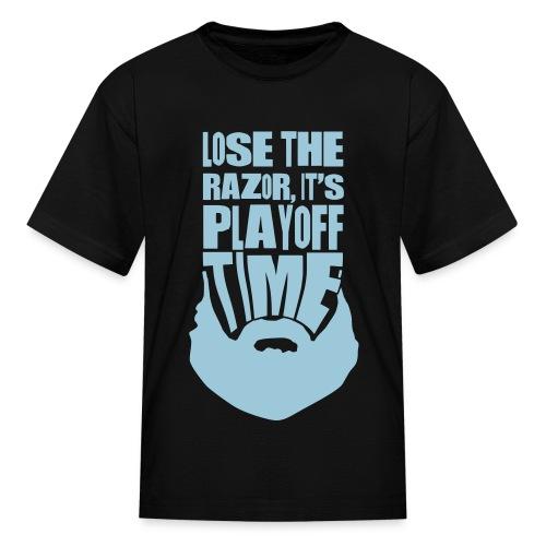 Lose The Razor It's Playoff Beard Time T-Shirt - Kids' T-Shirt