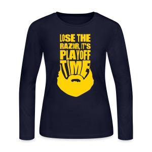 Lose The Razor It's Playoff Beard Time T-Shirt - Women's Long Sleeve Jersey T-Shirt
