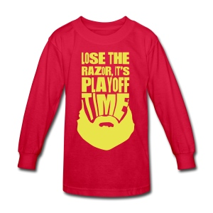 Lose The Razor It's Playoff Beard Time T-Shirt - Kids' Long Sleeve T-Shirt