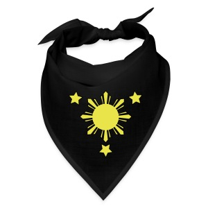 Black Bandana with 3 Stars and Sun - Bandana