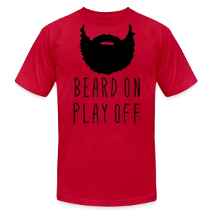 Playoff Beard 'Beard On Play Off' T-Shirt - Men's T-Shirt by American Apparel