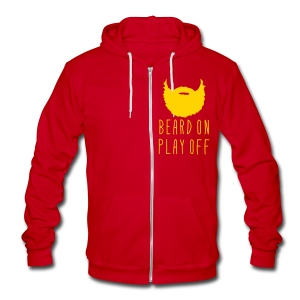 Playoff Beard 'Beard On Play Off Hoodie - Unisex Fleece Zip Hoodie by American Apparel