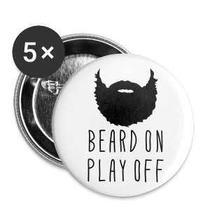 Playoff Beard 'Beard On Play Off Button - Small Buttons