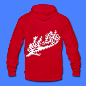 Jet Life Zip Hoodies/Jackets - Unisex Fleece Zip Hoodie by American Apparel