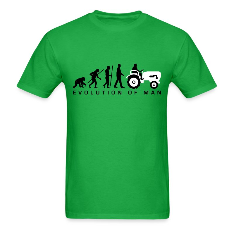 evolution bauer mit treaktor 032013 a 2c t shirt spreadshirt. Black Bedroom Furniture Sets. Home Design Ideas