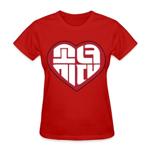 SNSD I Got A Boy - Heart (Red) - Women's T-Shirt