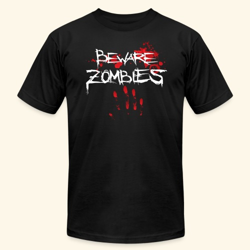 Beware Zombies - Men's Fine Jersey T-Shirt