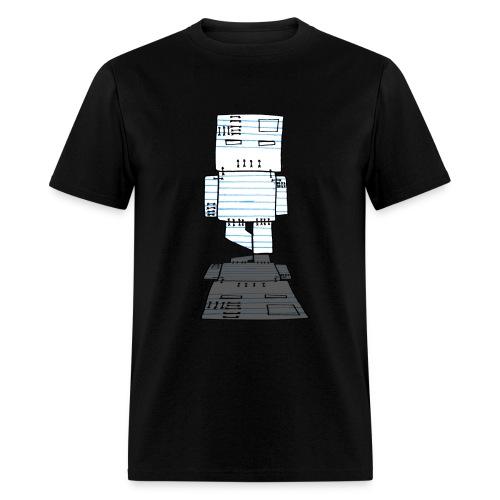 Paper Robot Zombie - Men's T-Shirt