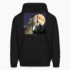 """Celestial Wolf"" ~ Howling Gray Wolf & Moon"