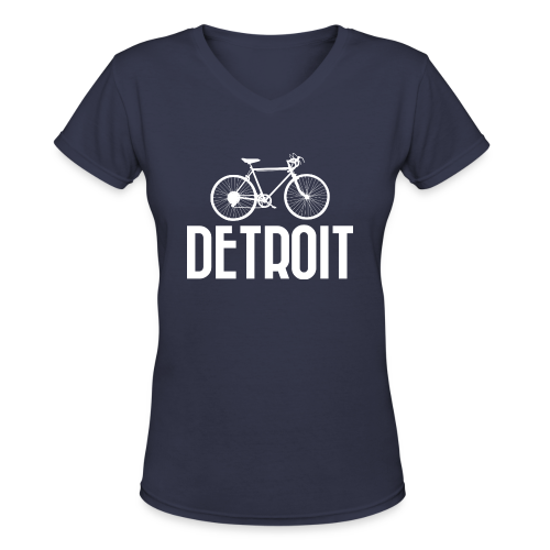 Bike Detroit - Women's V-Neck T-Shirt