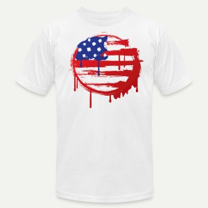 Grunge USA Flag - Men's T-Shirt by American Apparel