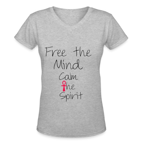 Free the mind calm the spirit Women's V-Neck T-Shirt - Women's V-Neck T-Shirt