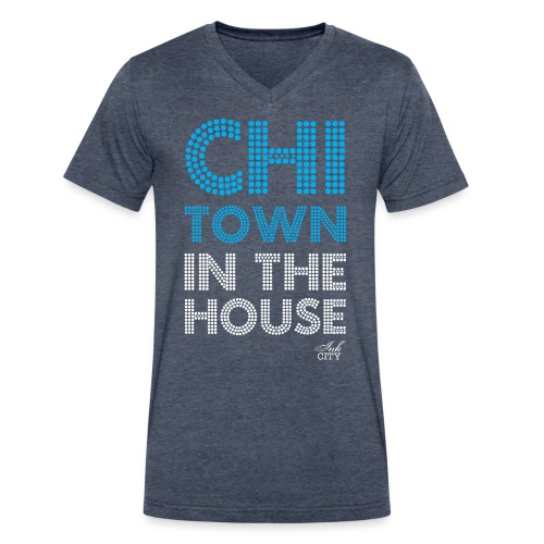 Men: Chi-Town in the house - Men's V-Neck T-Shirt by Canvas