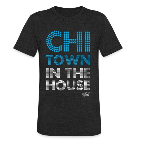 Unisex: Chi-Town in the house Vintage T - Unisex Tri-Blend T-Shirt