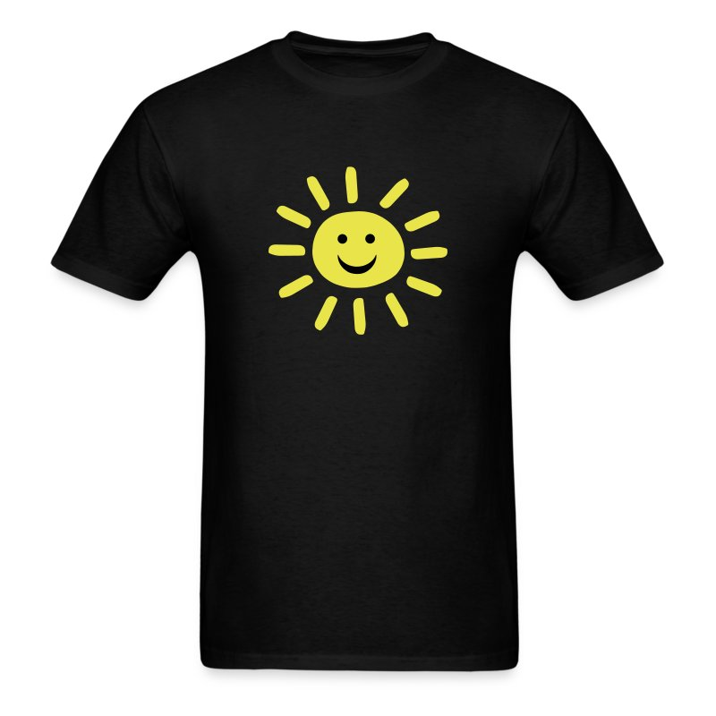 smiley summer sun t shirts men 39 s t shirt. Black Bedroom Furniture Sets. Home Design Ideas