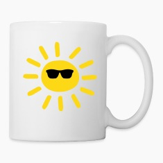 Sun Wearing Shades Bottles & Mugs