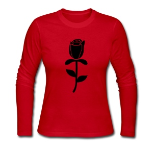 Rose Long Sleeve Shirts - Women's Long Sleeve Jersey T-Shirt