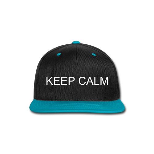 Snap-back Baseball Cap Keep Calm | Major Tees - Snap-back Baseball Cap