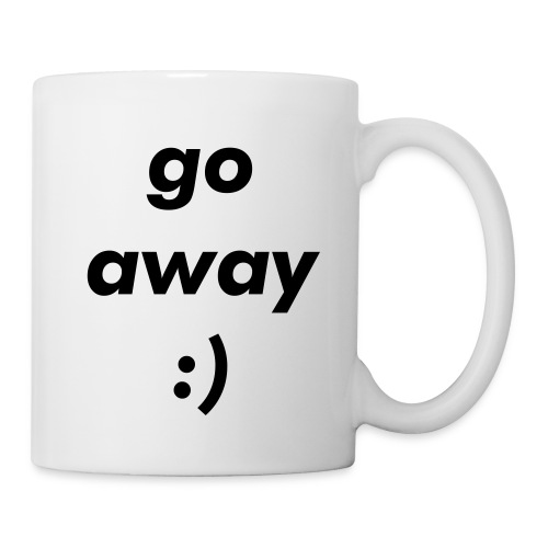 go away mug (leftie) - Coffee/Tea Mug