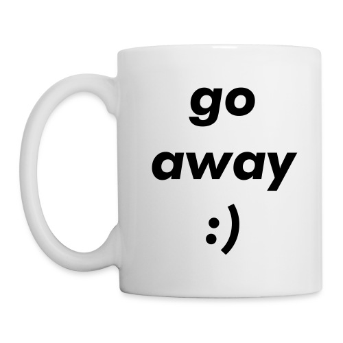 go away mug (rightie) - Coffee/Tea Mug