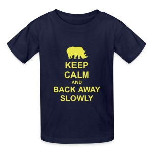 Keep Calm and Back Away Slowly - Kids' T-Shirt