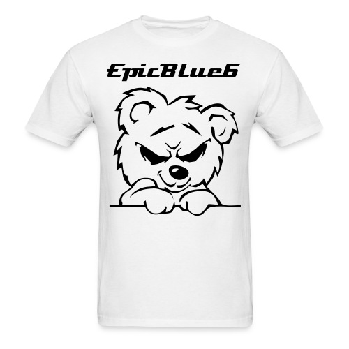 Crazy Bear With EpicBlue Logo - Men's T-Shirt