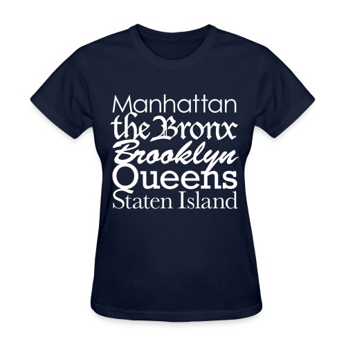BOUROUGHS OF NY - Women's T-Shirt