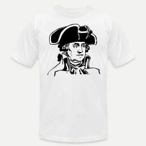 George Washington - Men's T-Shirt by American Apparel