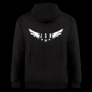 Zip Hoodies & Jackets ~ Men's Zip Hoodie ~ JSH Logo#1-w