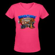 Women's T-Shirts ~ Women's V-Neck T-Shirt ~ Indubitably T-Shirt (F)
